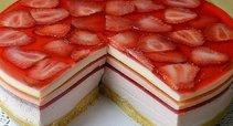 Gaivus nekeptas želė tortas