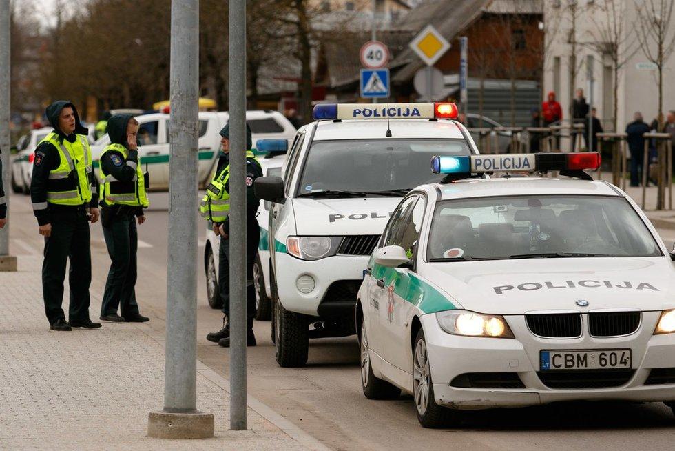 Policija (nuotr. Tv3.lt/Ruslano Kondratjevo)