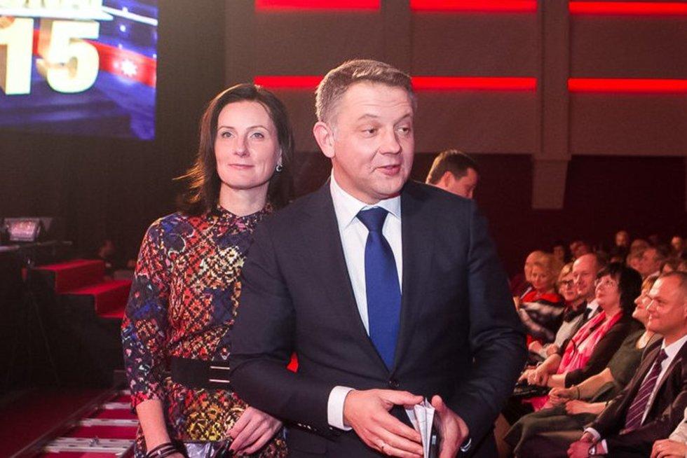 Eligijus Masiulis su žmona Ieva  (nuotr. Tv3.lt/Ruslano Kondratjevo)