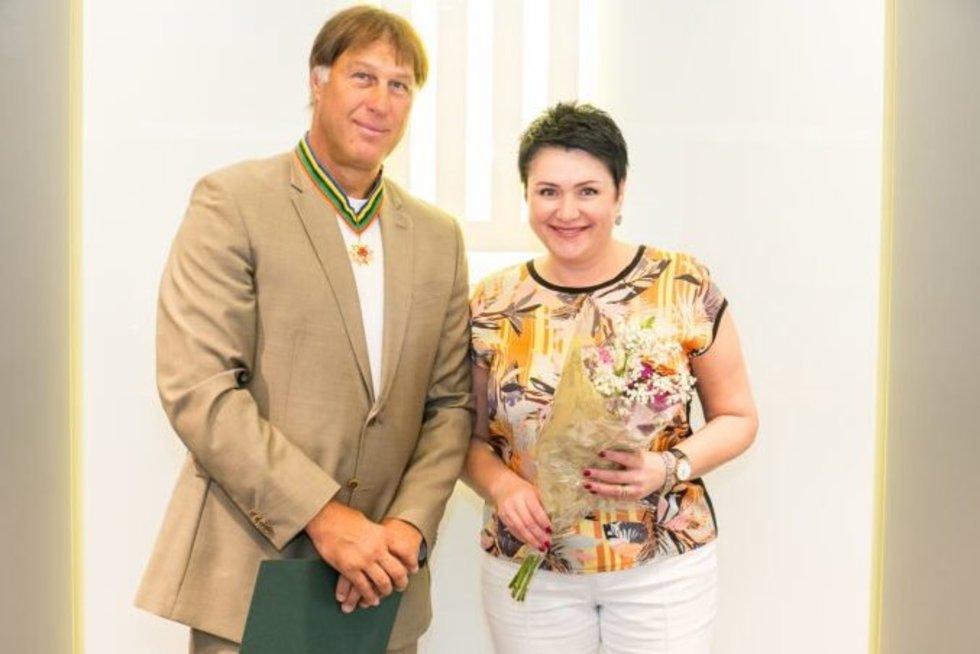 Š. Marčiulionis ir D. Gudzinevičiūtė (nuotr. Organizatorių)