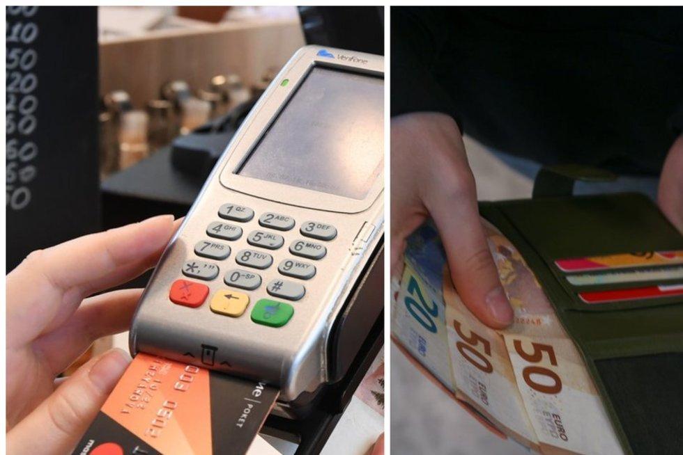 Atsikaitymas kortele, grynieji pinigai (tv3.lt fotomontažas)
