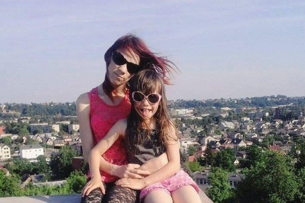 Agnė su dukra. Asmeninio archyvo nuotr.