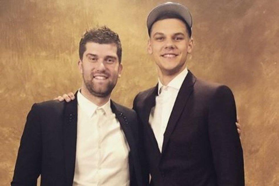 Deividas Sirvydis ir krepšininko agentas Marius Rutkauskas (nuotr. Instagram)