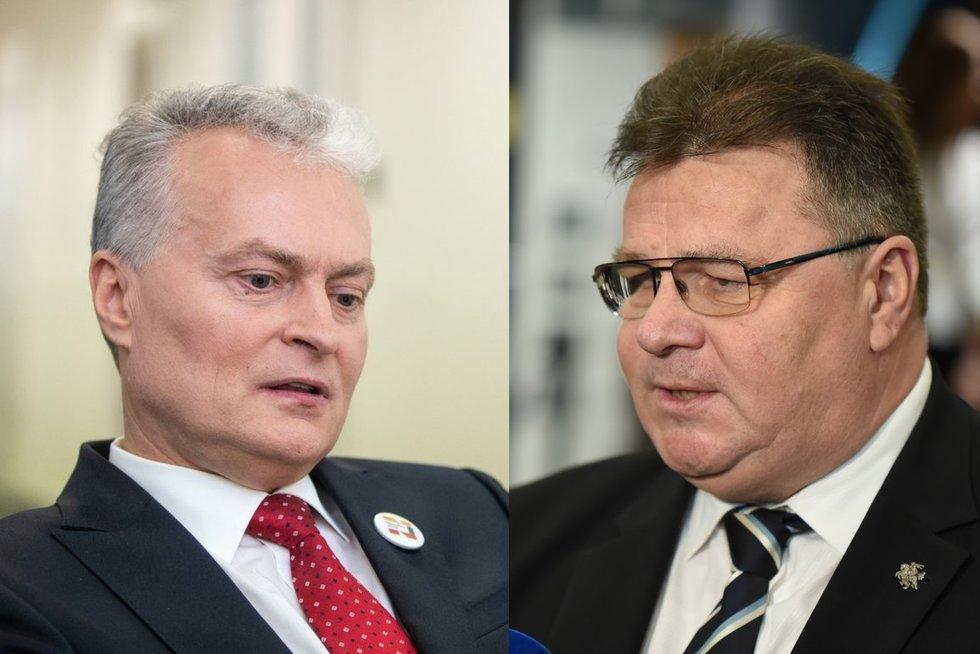 Gitanas Nausėda ir Linas Linkevičius (nuotr. fotodiena.lt / tv3.lt koliažas)