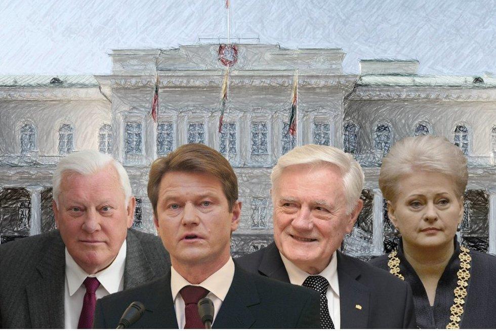 Lietuvos prezidentai (tv3.lt fotomontažas)