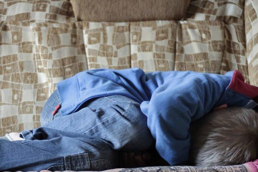 Išsigandęs vaikas (nuotr. 123rf.com)
