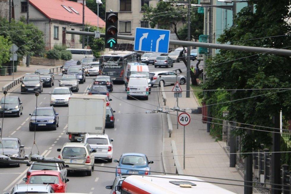 Avarija Kaune (nuotr. Kas vyksta Kaune)