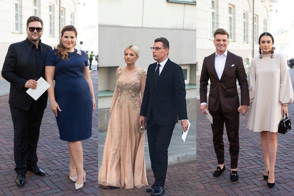Iškilmingo priėmimo Lietuvos Respublikos Prezidento rūmų vidiniame kieme svečiai (Greta Skaraitienė/Fotobankas)