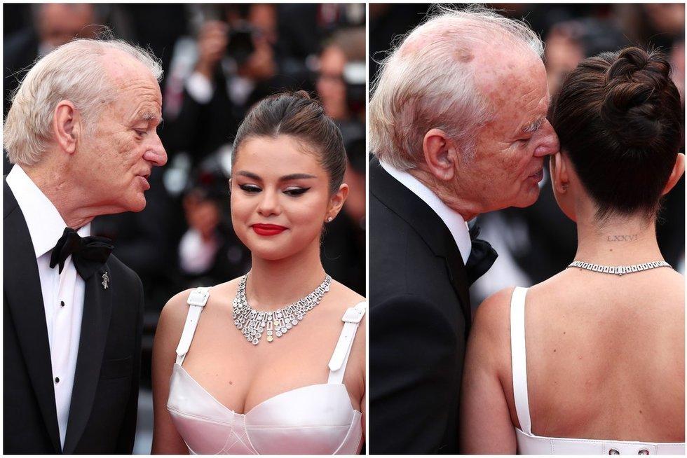 Selena Gomez ir Bill Murray (nuotr. SCANPIX) tv3.lt fotomontažas