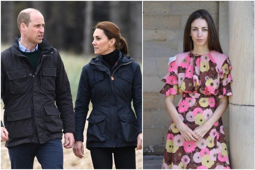 Princas Williamas ir Kate Middleton, Rose Hanbury  (tv3.lt fotomontažas)