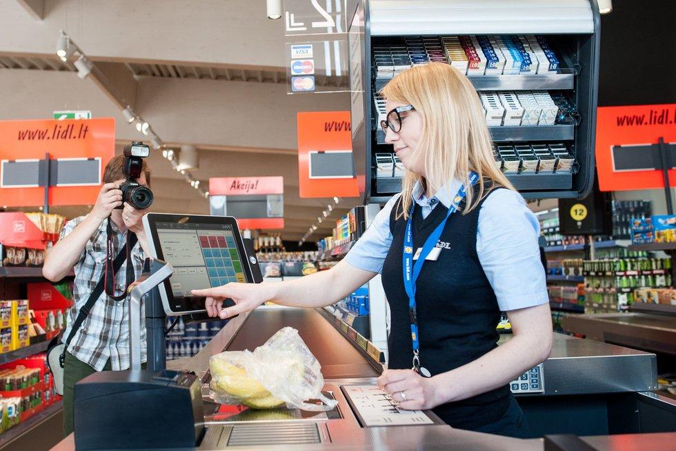 """Parduotuvėje """"Lidl"""" (nuotr. Fotodiena.lt/Pauliaus Peleckio)"""
