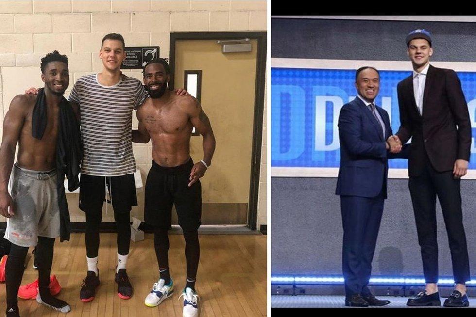 D. Sirvydis su NBA žvaigždėmis (tv3.lt fotomontažas)