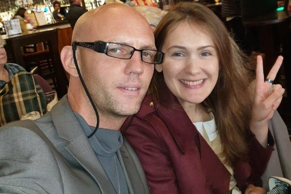 Christopher Rimmer ir Viktorija (nuotr. facebook.com)