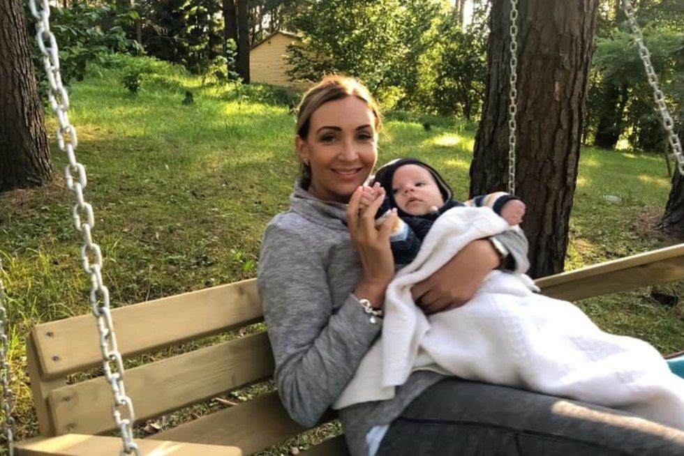Gerda Žemaitė su sūneliu Nikolu (nuotr. facebook.com)