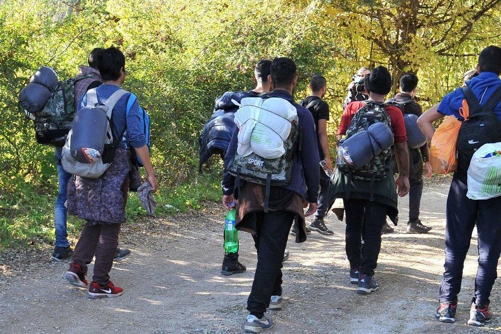 Neteisėti imigrantai (asociatyvi nuotr.) (nuotr. SCANPIX)