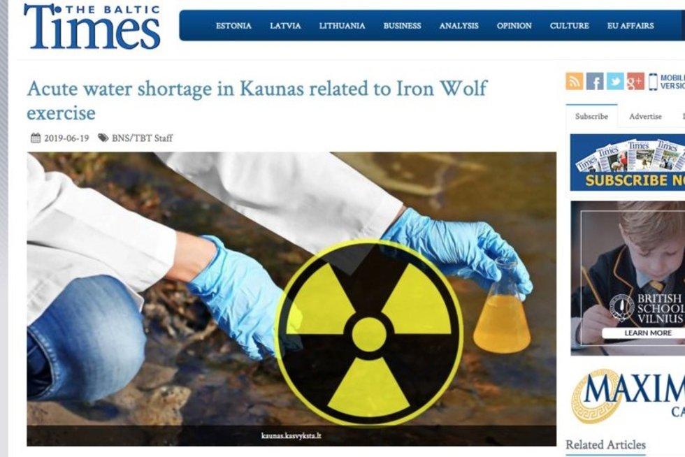 Melagingos žinios portale baltictimes.com