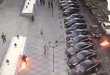 Maskvos centre išpuolis: Molotovo koktelius svaidęs vyras ir pats užsidegė