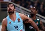 """""""Panathinaikos"""" Barselonos krepšininkus nugalėjo ir be didesnės Luko Lekavičiaus pagalbos"""