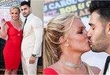 Nesusivaldė: Spears viešumoje aistringai ėmė bučiuoti mylimąjį