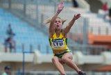 Sugrįžimas: po blankaus sezono JAV šuolininkė į tolį Jogailė Petrokaitė suspindėjo Europos čempionate