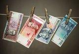 Valiutos keityklos valytojui – bauda už pinigų plovimą