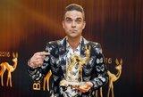 Į Lietuvą atvykstantis Robbie Williamsas pranešė džiugią žinią