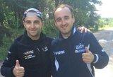 Pasaulio čempionato ralio pažiba R. Kubica prašė V. Švedo patarimų