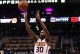 """NBA lygoje – pergalingas """"Suns"""" gynėjo tritaškis"""