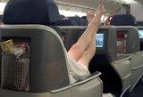 Kai lėktuve jaučiasi lyg namuose: keleivių įpročiai, kurie gali net supykinti