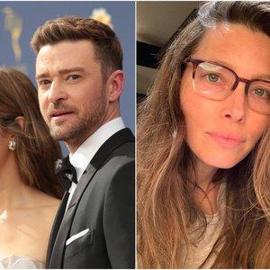 Timberlake'o žmona pasidalijo asmenuke be lašelio makiažo: vyro reakcija nustebins
