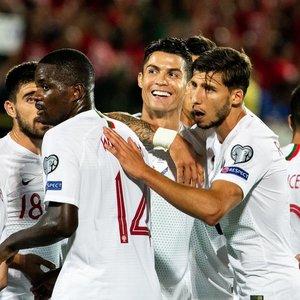 Keturi Ronaldo įvarčiai Vilniuje: portugalų šėlsmą lietuviai atlaikė tik kėlinį