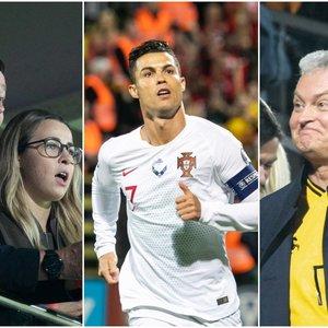Žinomi veidai nepraleido progos pamatyti Lietuvos-Portugalijos rungtynių bei paties Ronaldo