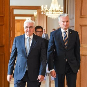 Nausėda susitiko su Vokietijos prezidentu aptarti saugumo klausimų