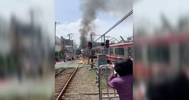 Traukinio katastrofa Japonijoje