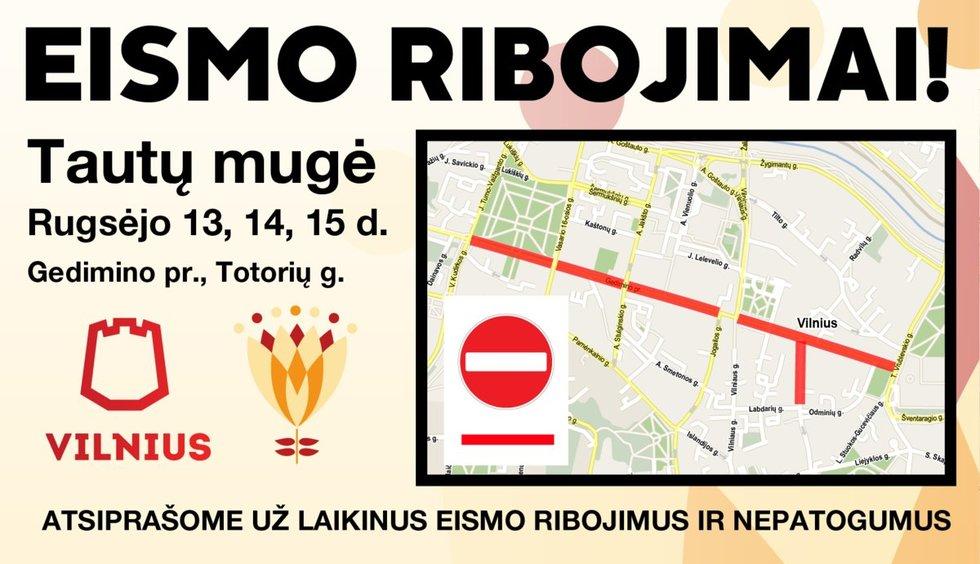 Eismo ribojimai (nuotr. Vilniaus miesto savivaldybės)
