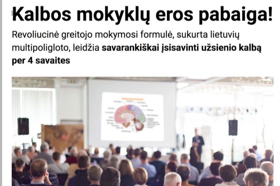 Klaidinanti reklama (nuotr. TV3)