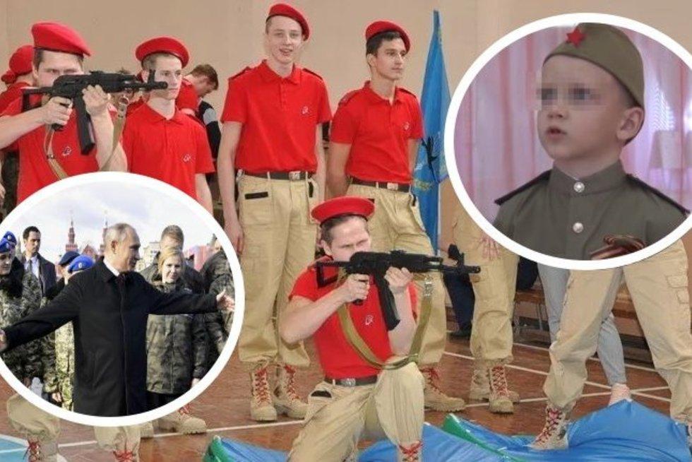 """Putino """"Hitlerjungendas"""". Kaip veikia smegenų plovimo mašina Rusijoje (nuotr. SCANPIX) tv3.lt fotomontažas"""