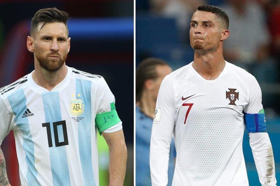 L.Messi ir C.Ronaldo (nuotr. SCANPIX)