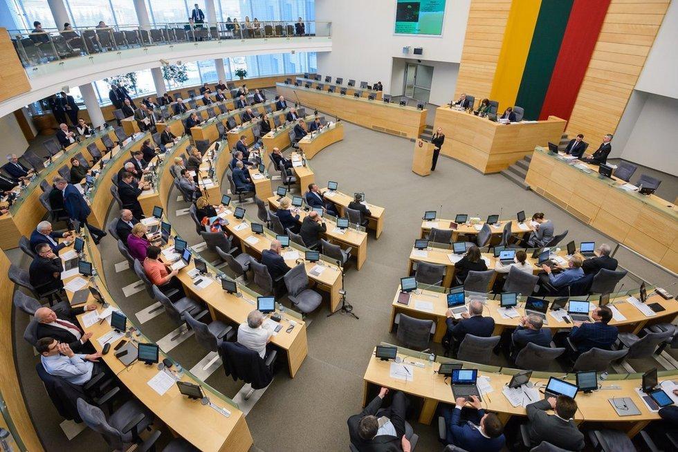 Seimo posėdis (nuotr. Eimanto Genio)