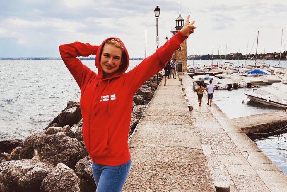 Raudonojo Kryžiaus savanorė Ieva (nuotr. asmeninio albumo)