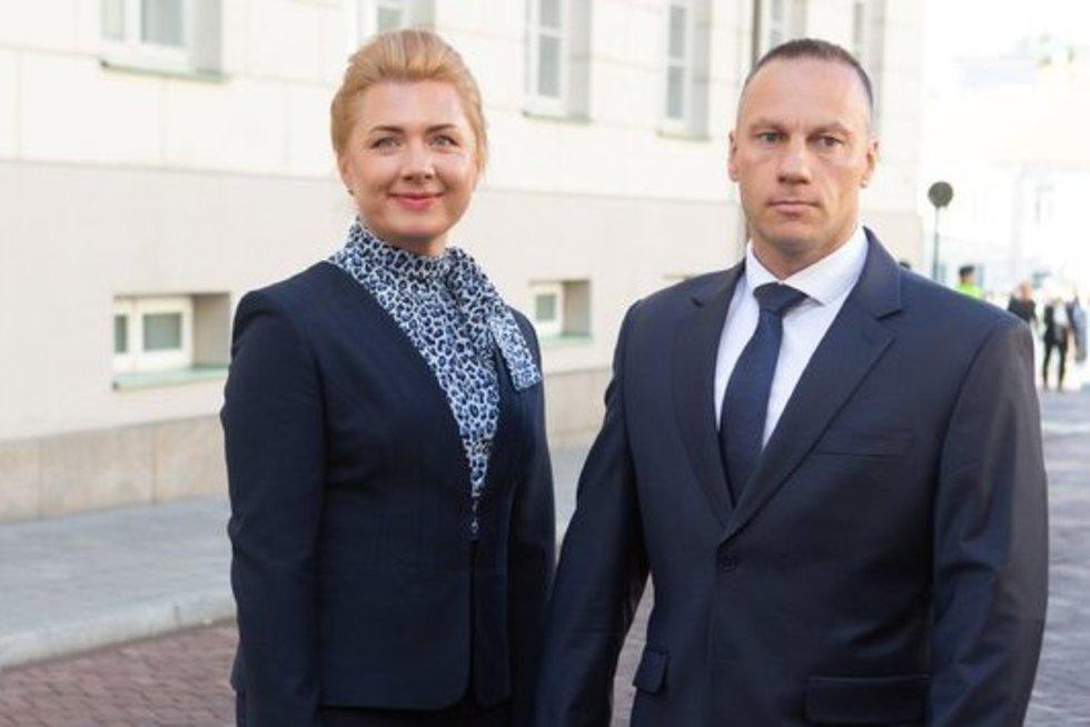 Linas Pernavas su žmona Jūrate (Greta Skaraitienė/Fotobankas)