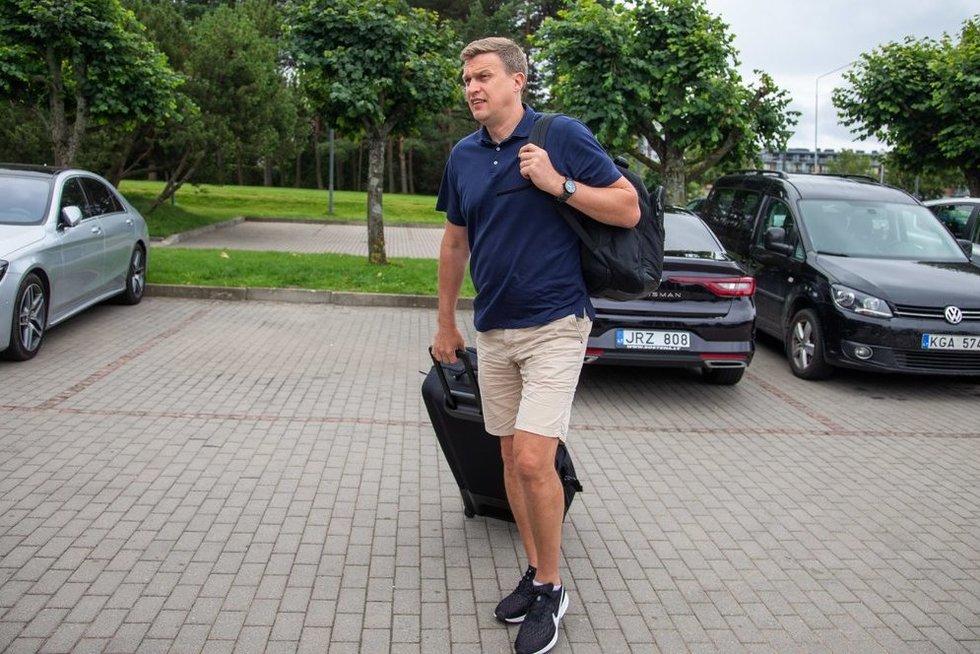 Palangoje renkasi Lietuvos krepšinio rinktinė (nuotr. Fotodiena/Justino Auškelio)