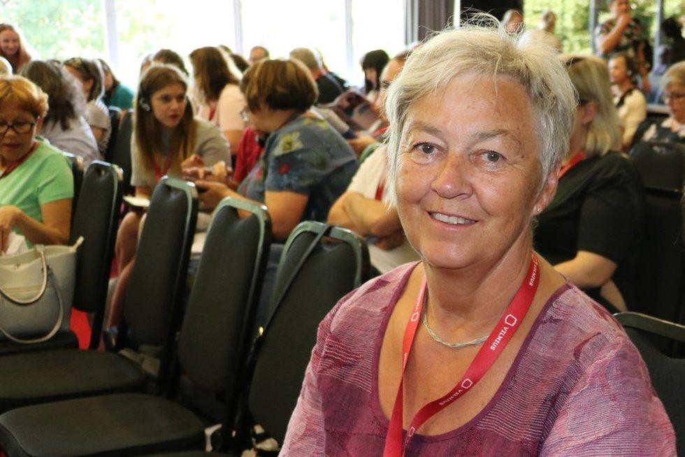 """Helene Holand dalyvavo jau 15-oje """"Inclusion Europe"""" konferencijoje.  Sigitos Inčiūrienės nuotr."""