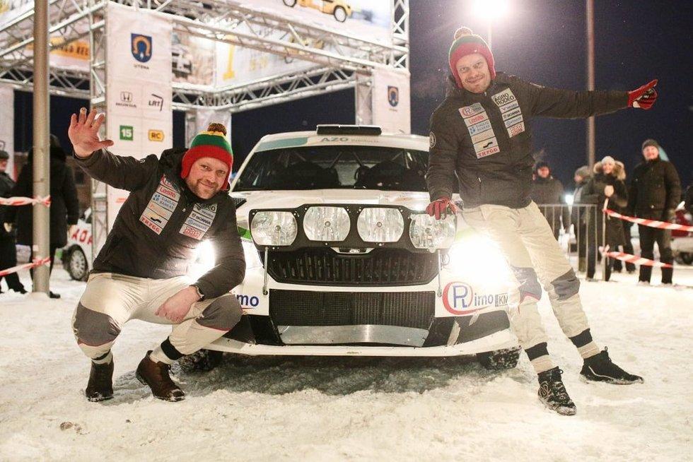"""""""Winter Rally"""" 2019 varžybų akimirka (nuotr. Organizatorių)"""