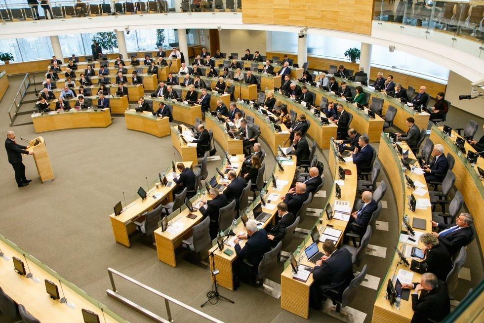 Seimo posėdis (nuotr. Tv3.lt/Ruslano Kondratjevo)