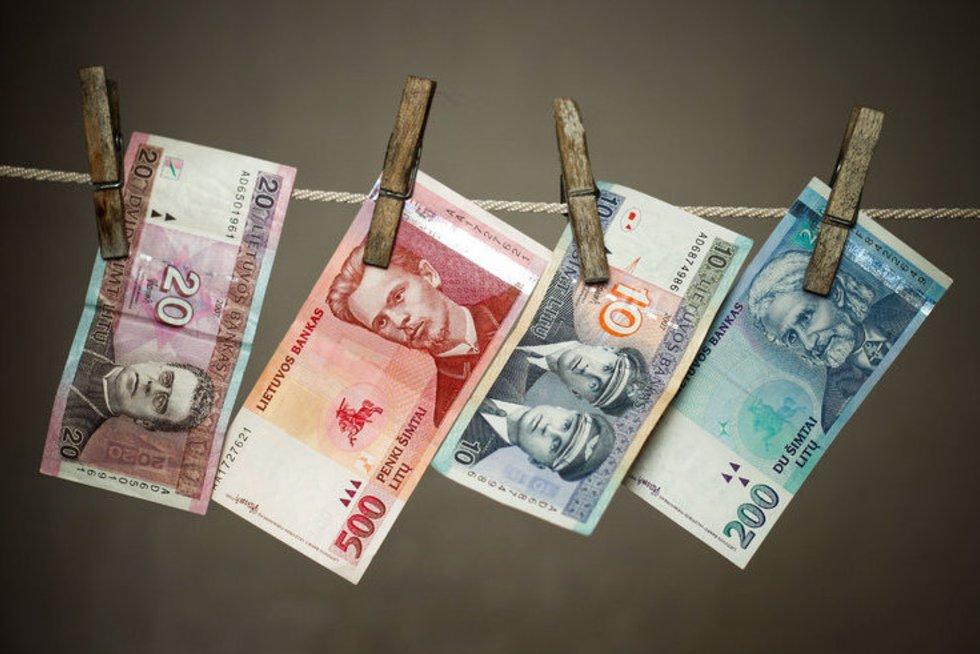 Pinigų plovimas (nuotr. Fotodiena.lt/Dmitrijaus Radlinsko)