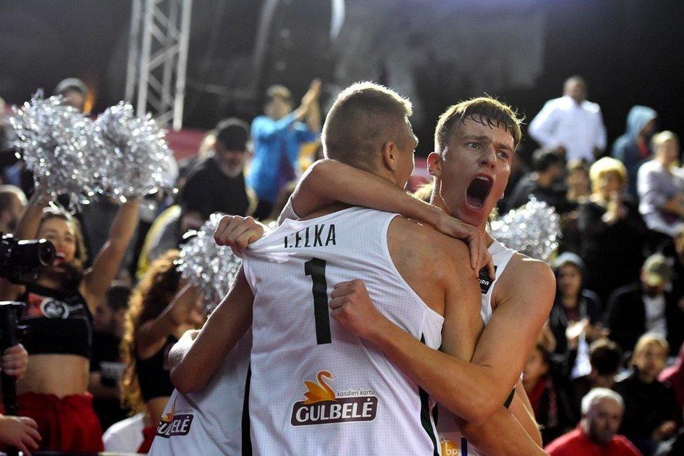 Lietuvos jaunių 3x3 krepšinio rinktinė Europos čempionate (nuotr. FIBA)