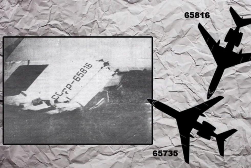 Sovietinė katastrofa: lėktuvo pilotai išvydo iš dangaus byrančias nuolaužas ir žmonių kūnus (nuotr. YouTube)