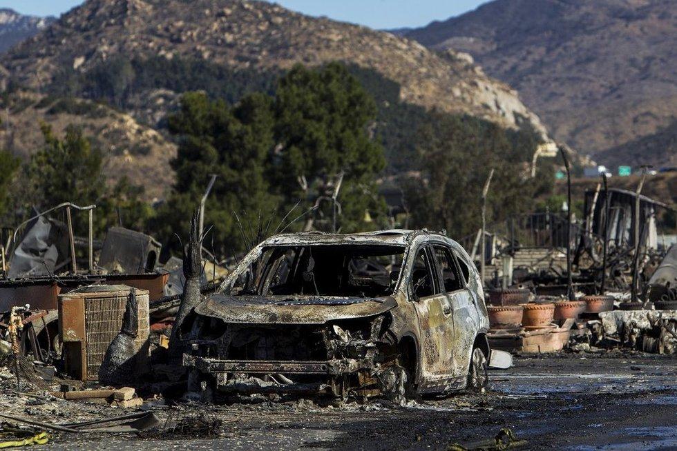 Gaisrai Kalifornijoje (nuotr. Vida Press)