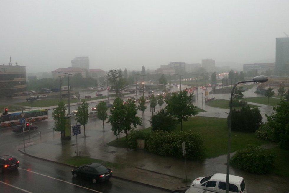 Škvalas Vilniuje (nuotr. skaitytojo)